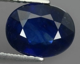 2.25 Cts Natural Intense Beautiful Blue Sapphire Oval Shape From MADAGASCAR