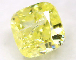 0.72Ct Yellow Diamond Natural Untreated Fancy Diamond AT0575