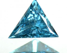 Stunning!!!  0.09 Cts Natural Diamond Greenish Blue 3.0mm Triangle  Africa