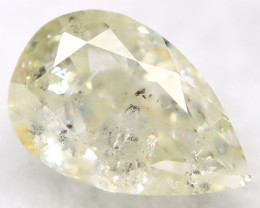 0.30Ct Light Yellow Diamond Natural Untreated Fancy Diamond AT0576
