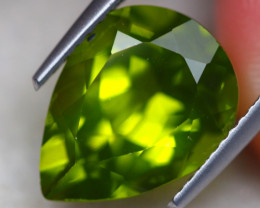 5.92Ct Natural Green Peridot Pear Cut Lot A884