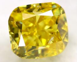 0.21Ct Greenish Yellow Diamond Natural Untreated Fancy Diamond AT0580