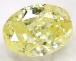 0.28Ct Yellow Diamond Natural Untreated Fancy Diamond AT0583