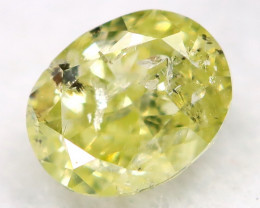 0.23Ct Greenish Yellow Diamond Natural Untreated Fancy Diamond AT0586