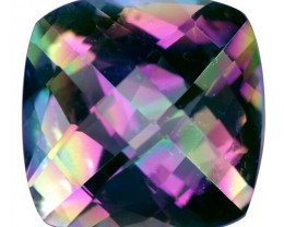 12.87 Cts Amazing Rare Fancy Fancy Color Natural Mystic Quartz