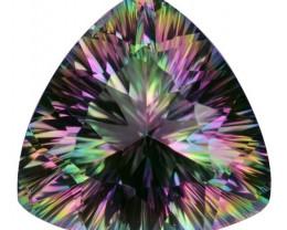 12.85 Cts Amazing Rare Fancy Fancy Color Natural Mystic Quartz