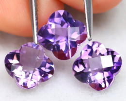 Amethyst 4.33Ct VVS Flower Cut Natural Bolivian Purple Amethyst B0518