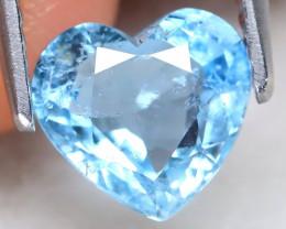 Aquamarine 1.32Ct Heart Cut Natural Aquamarine A0503