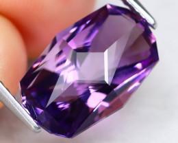 Amethyst 5.48Ct VVS Master Cut Natural Bolivian Purple Amethyst A0508