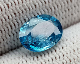 2.55CT NATURAL BLUE ZIRCON BEST QUALITY GEMSTONE IIGC01