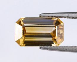 6.45ct. Lab Certified Yellow Cambodian Zircon