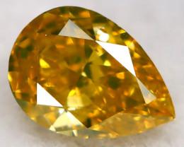 0.30Ct Greenish Orange Diamond Natural Untreated Fancy Diamond AT0588