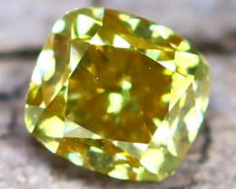 Greenish Yellow Diamond 0.22Ct Untreated Genuine Fancy Diamond B0610