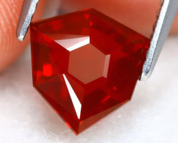 Mexican Cherry Red 1.45Ct Master Cut Natural Cherry Red Fire Opal B0611
