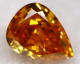 0.11Ct Reddish Orange Diamond Natural Untreated Fancy Diamond AT0589