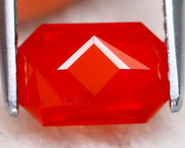 Mexican Cherry Red 1.00Ct Master Cut Natural Cherry Red Fire Opal B0617