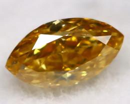 0.11Ct Greenish Orange Diamond Natural Untreated Fancy Diamond AT0593