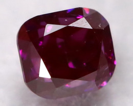 Purple Red Diamond 2.2mm Natural Fancy Diamond AT0611