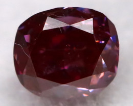 Purple Red Diamond 0.11Ct Natural Fancy Diamond AT0614
