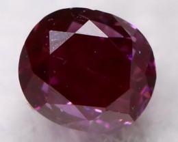 Purple Red Diamond 2.5mm Natural Fancy Diamond AT0618