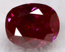 Purple Red Diamond 2.6mm Natural Fancy Diamond AT0620