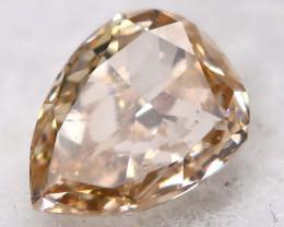 Peach Pink Diamond 3.8mm Natural Fancy Diamond AT0626