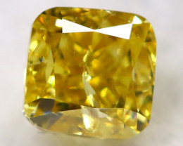 Orangy Yellow Diamond 0.30Ct Natural Fancy Diamond AT0602