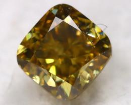 Greenish Orange Diamond 0.20Ct Natural Fancy Diamond AT0604