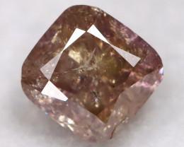 Peach Purple Diamond 0.20Ct Natural Fancy Diamond AT0633