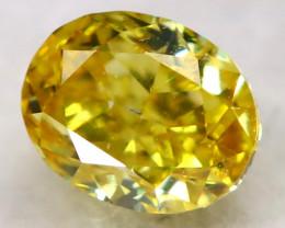 Orangy Yellow Diamond 0.16Ct Natural Fancy Diamond AT0606