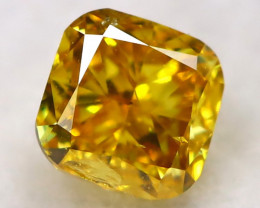Yellowish Orange Diamond 0.13Ct Natural Fancy Diamond AT0607
