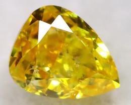 Yellowish Orange Diamond 0.13Ct Natural Fancy Diamond AT0609