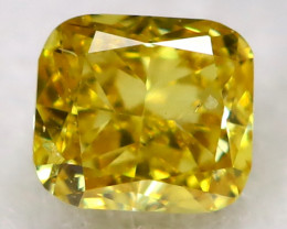Greenish Orange Diamond 0.07Ct Natural Fancy Diamond AT0610