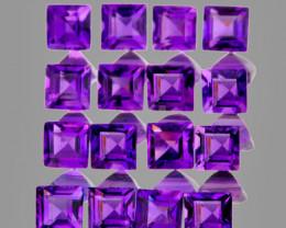 2.00 mm Square 50 pcs 2.48cts Purple Amethyst [VVS}