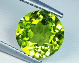 3.15 ct  AAA  Quality Gem  Round Cut Top Luster Natural Peridot