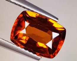 3.40 ct Top Quality Gem Rectangle Cut Natural Hessonite Garnet
