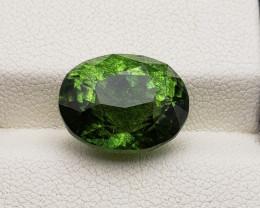 Peridot 12.40 carats Rutile