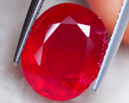 6.89Ct Blood Red Color Ruby Oval Cut Lot A886