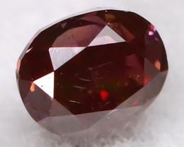 Purple Red Diamond 2.4mm Natural Fancy Diamond C0611