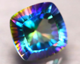 Mystic Topaz 7.22Ct Natural IF Mystic Rainbow Topaz EF0614/A46