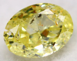 Light Greenish Yellow Diamond 0.26Ct Natural Untreated Fancy Diamond AT0638