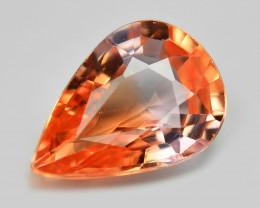 0.64 Cts Rare Natural Pinkish Red Padparadscha Sapphire Loose Gemstone