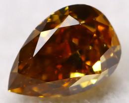 Champagne Orange Diamond 0.11Ct Natural Untreated Fancy Diamond AT0664