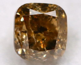 Champagne Diamond 0.20Ct Natural Untreated Fancy Diamond BM0456