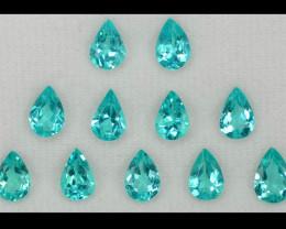 5.11 Cts 11 PCS Un Heated Natural Blueish Green Apatite Loose Gemstone