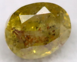 Orangy Green Diamond 0.22Ct Natural Untreated Fancy Diamond BM0458