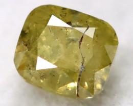 Yellowish Grey 0.18Ct Natural Untreated Fancy Diamond BM0463