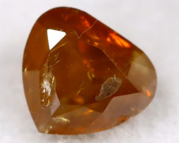 Yellowish Orange 0.14Ct Natural Untreated Fancy Diamond BM0466