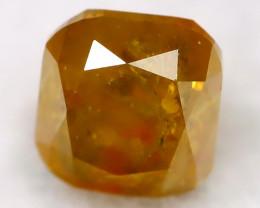 Yellowish Orange Diamond 0.24Ct Natural Untreated Fancy Diamond BM0471