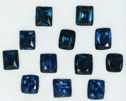 6.08 Cts Natural Deep Blue Spinel 12Pcs Cushion Cut Sri Lanka